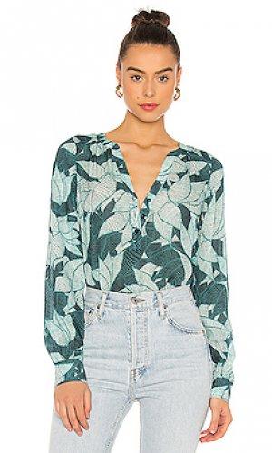 Блузка fiore Parker. Цвет: зеленый