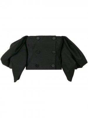 Укороченный жакет с открытыми плечами Carolina Herrera. Цвет: черный