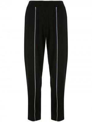 Спортивные брюки с контрастной окантовкой Atm Anthony Thomas Melillo. Цвет: черный