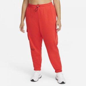 Женские брюки Nike Sportswear Swoosh (большие размеры) - Красный