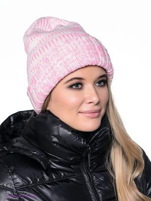 Шапка Femi Pleasure. Цвет: розовый, белый