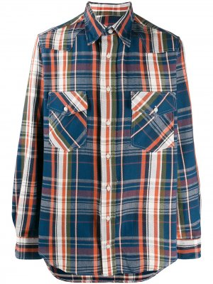 Рубашка Camp в стиле вестерн Gitman Vintage. Цвет: синий