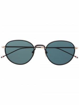 Солнцезащитные очки TBS119 в круглой оправе Thom Browne Eyewear. Цвет: черный