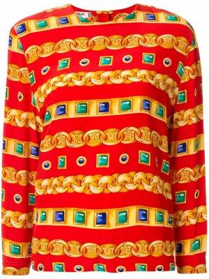 Блузка с принтом Céline Pre-Owned. Цвет: красный