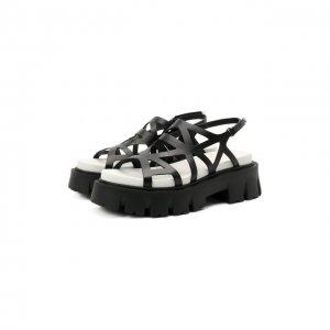 Кожаные сандалии Premiata. Цвет: чёрный