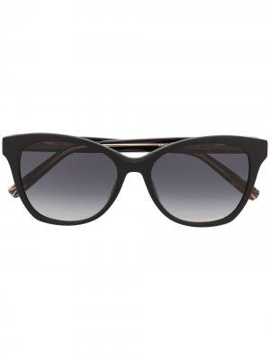 Солнцезащитные очки в круглой оправе Missoni. Цвет: черный