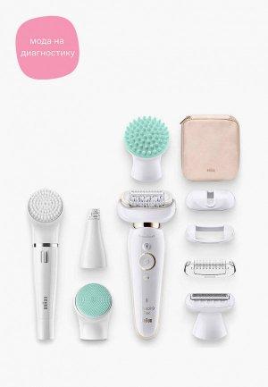 Эпилятор Braun Silk-epil 9 Flex Beauty Set SES 9300. Цвет: белый
