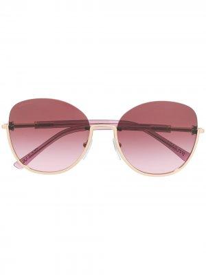 Солнцезащитные очки в полуободковой оправе Bvlgari. Цвет: фиолетовый