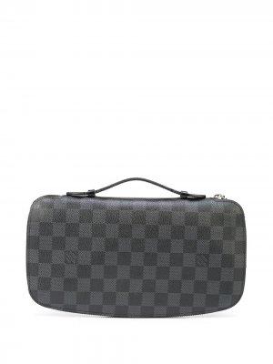 Дорожный кошелек Damier Graphite Louis Vuitton. Цвет: черный