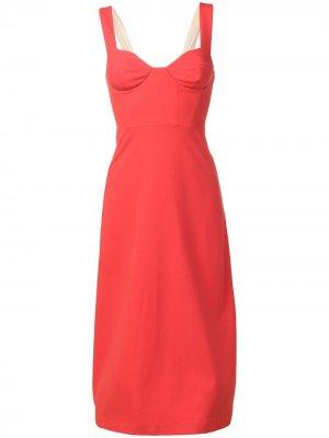 Платье с корсетом Chalayan. Цвет: оранжевый
