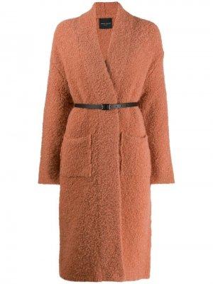 Фактурное пальто Roberto Collina. Цвет: нейтральные цвета
