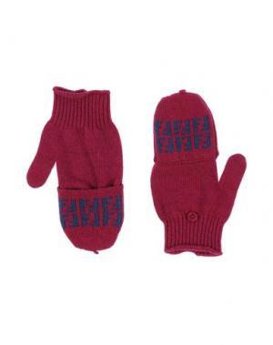 Перчатки FENDI. Цвет: фуксия