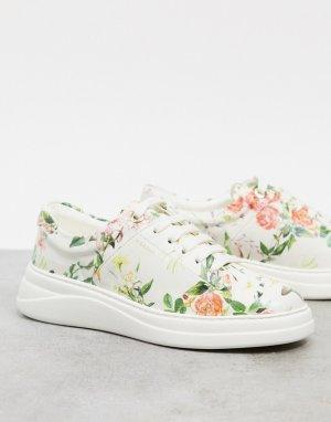 Кроссовки на шнуровке с цветочным принтом Anouk-Многоцветный Fiorelli
