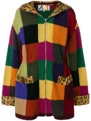 Пальто с трикотажной вставкой JC de Castelbajac Pre-Owned. Цвет: разноцветный