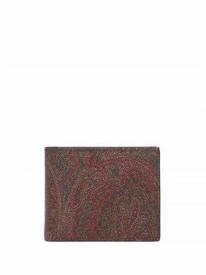 Жаккардовый кошелек с узором пейсли ETRO. Цвет: красный
