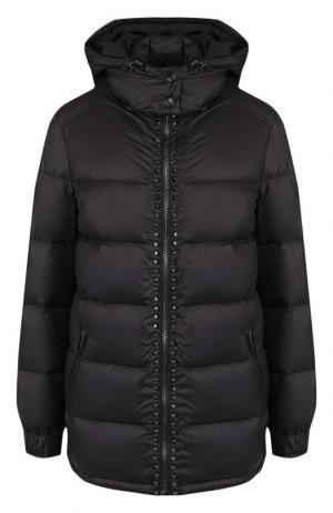 Утепленная куртка с капюшоном Valentino. Цвет: чёрный