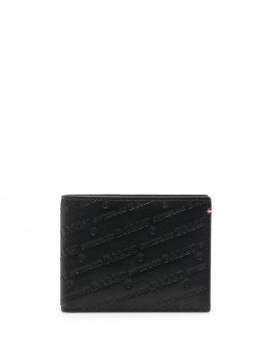 Бумажник с тисненым логотипом Bally. Цвет: черный