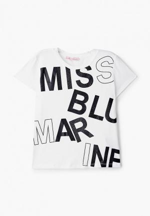 Футболка Miss Blumarine. Цвет: белый