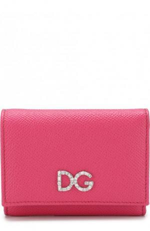Кожаный кошелек на кнопке Dolce & Gabbana. Цвет: розовый