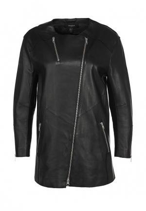 Куртка кожаная Muubaa. Цвет: черный