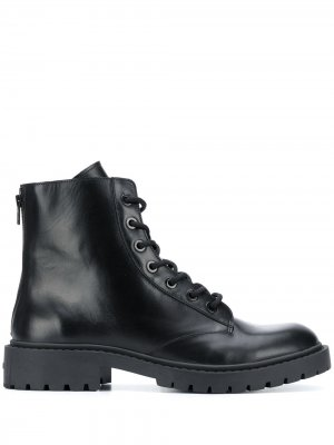 Ботинки в стиле милитари Kenzo. Цвет: черный