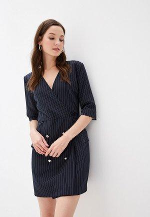 Платье GALOLBO. Цвет: синий