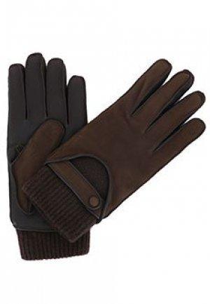 Перчатки GIORGIO ARMANI. Цвет: коричневый
