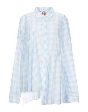 Pубашка ATINSIGHT by ANDREA TURCHI. Цвет: небесно-голубой