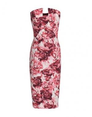 Платье до колена BLACK HALO EVE by LAUREL BERMAN. Цвет: коралловый