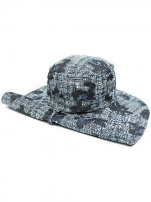 Шляпа в клетку HENRIK VIBSKOV. Цвет: синий