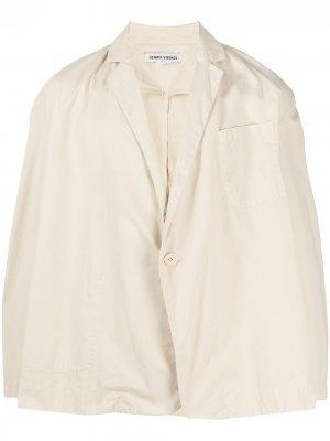 Двубортный пиджак оверсайз HENRIK VIBSKOV. Цвет: нейтральные цвета