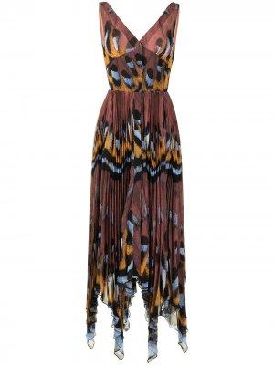 Платье Annabella с асимметричным подолом Altuzarra. Цвет: коричневый