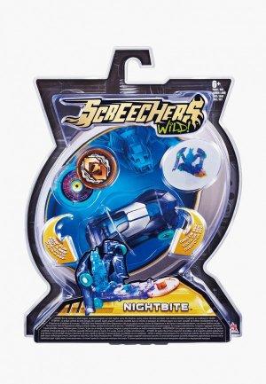 Игрушка Росмэн Дикие Скричеры. Машинка-трансформер Найтбайт л1 ТМ Screechers Wild. Цвет: синий