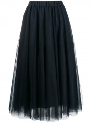 Платье миди P.A.R.O.S.H.. Цвет: синий