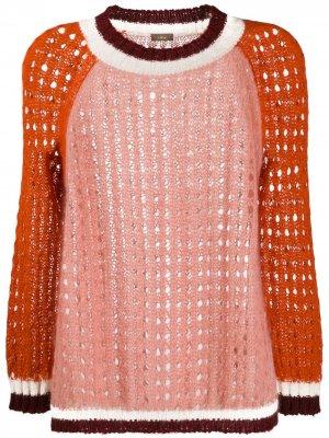 Джемпер в стиле колор-блок Altea. Цвет: розовый