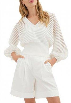 Пуловер LUISA SPAGNOLI. Цвет: белый