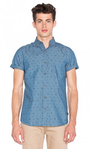 Рубашка stafford Globe. Цвет: синий