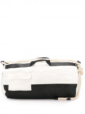 Большой двухцветный рюкзак Ann Demeulemeester. Цвет: белый
