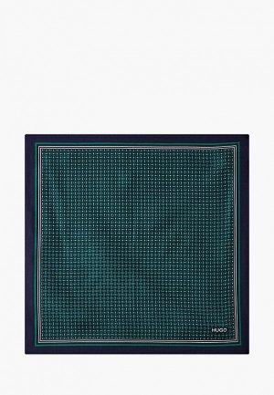 Платок носовой Hugo Pocketsquare. Цвет: зеленый
