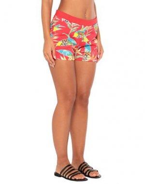 Пляжные брюки и шорты MOSCHINO. Цвет: красный