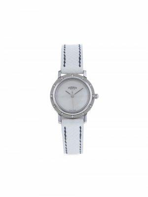 Наручные часы Clipper pre-owned 24 мм 2006-го года Hermès. Цвет: белый
