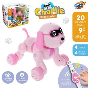 Робот-игрушка радиоуправляемый собака charlie, световые и звуковые эффекты, русская озвучка WOOW TOYS