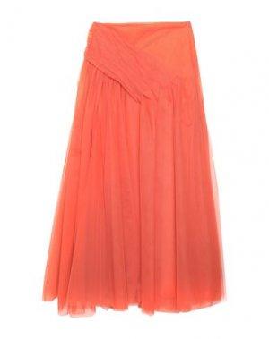 Длинная юбка KI6? WHO ARE YOU?. Цвет: оранжевый
