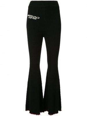 Трикотажные расклешенные брюки Ground Zero. Цвет: черный
