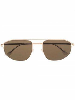 Солнцезащитные очки-авиаторы MYKITA+MAISON MARGIELA. Цвет: золотистый