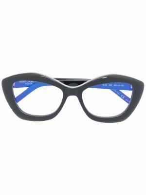 Очки SL68 в оправе кошачий глаз Saint Laurent Eyewear. Цвет: черный