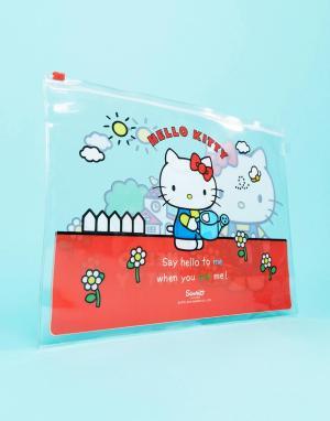 Бумажник на молнии Hello Kitty. Цвет: мульти
