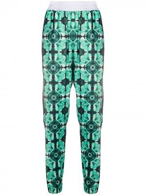 Спортивные брюки Lafolo с графичным принтом John Richmond. Цвет: зеленый