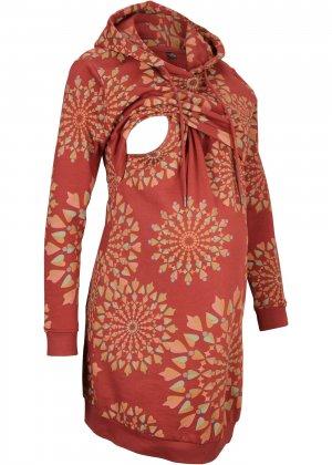 Платье для беременных bonprix. Цвет: красный