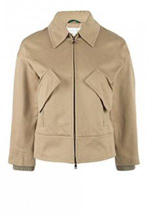 Куртка PATRIZIA PEPE. Цвет: бежевый